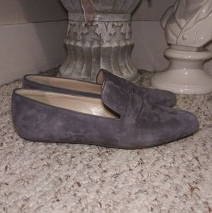 NWOT J. Crew Georgia Gray Suede Loafers